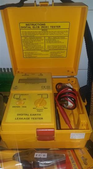 Digital earth leakage tester