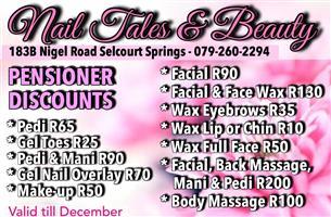 Nail Tales & Beauty's Pensioner Discounts