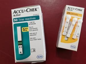 Accu-Chek active test strips and softclix lancets