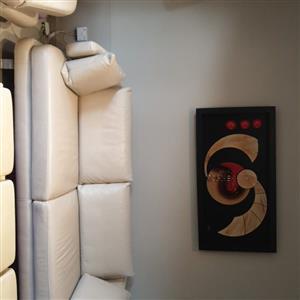 genuine leather lounge