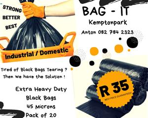 Xtra Heavy duty refuse bags
