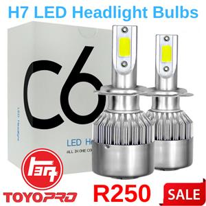 C6 H7 LED Headlight Bulb 6000K 2pcs 36W Cold White Car Head Lamp Light.
