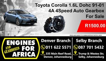 Used Toyota 4A 1.6L Dohc 91-01 4Speed Auto Gearbox For Sale