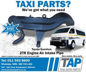 Toyota Quantum 2TR Engine AIR INTAKE PIPE - Taxi Auto Parts quality used spares - TAP
