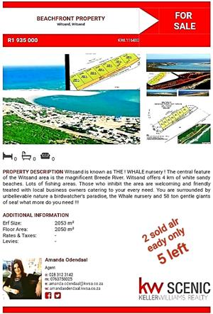 INVESTMENT BEACH PROPERTY ONLY 3 LEFT! WITSAND - OVER 2000sqft private beach to be owned! 0763750025