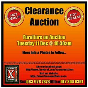 Clearance Auction Tuesday 11 Dec
