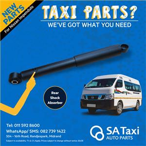 Rear Shock Absorber for Nissan Impendulo - SA Taxi Auto Parts quality spares