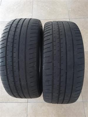 2x 195/50R15 Hankook tyres For Sale