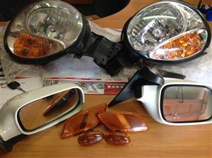 Subaru headlamps/rear view mirrors