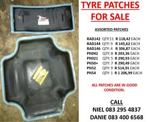 Assorted Tyre Patches for Sale