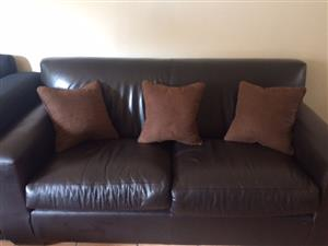 2 seater couch with 3 cushions
