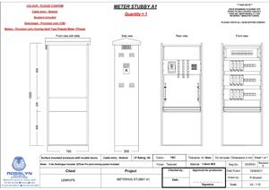 Electrical metering kiosk