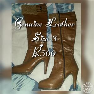 Light brown genuine leather boots for sale