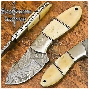 R500 off Handmade Damascus Steel Skinning Knife 19 cm
