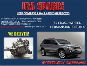 JEEP COMPASS USED GEARBOXES FOR SALE- USA SPARES