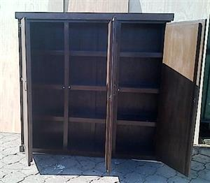Kitchen Cupboard Farmhouse series Free standing 1800 with 3 doors - Stained