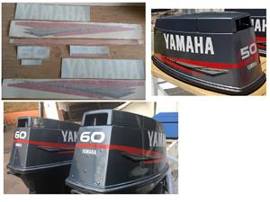 After market decals sticker set for a Yamaha 60 Outboard motor
