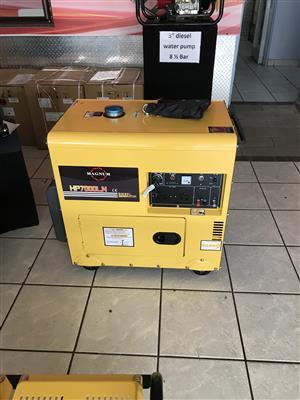 Magnum Generator 8 kva 6.5 kw Diesel Silent Type Price incl Vat