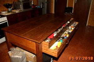 Large solid wood table for sale