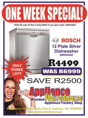 Bosch 12 Plate Dishwasher – Silver - WOMEN'S MONTH SPECIAL