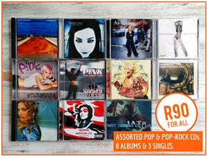 Assorted Pop and Pop-Rock CDs (8 Albums, 3 Singles)