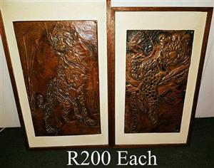 Framed wooden wall art for sale