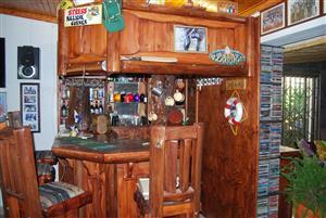Wooden corner Bar