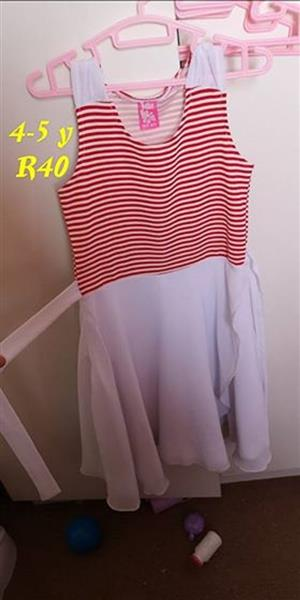 Light pink red striped dress for sale