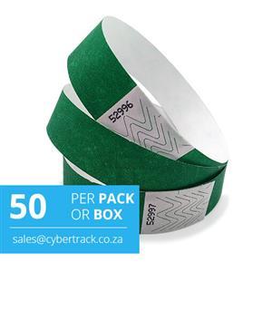 50 Tyvek Wristband Packs