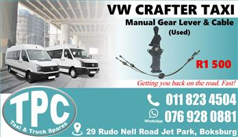 VW Crafter Manual Gear Lever & Cable -Used - Quality Replacement Taxi Spare Parts.