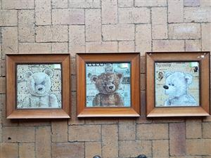 Teddy collection framed