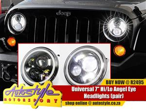 universal Jeep style  7 inch High-Low LED Spotlamps pair - 4800 lumen  2800 lumn - sold as a pair