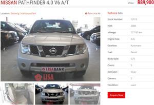 2008 Nissan Pathfinder 4.0 V6 LE automatic