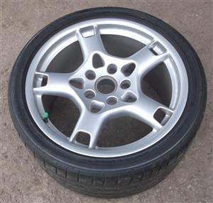 "Porsche 19"" original ""lobster claw"" sytle wheels with tyres"