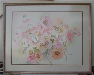 Original Water Colour - Signed - 92x 74 cm - framed