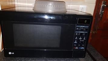 Black LG Microwave for sale