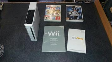 Nintendo Wii Console  Comes with 2 controls , 2 games and accesories .  In Prestine working condition