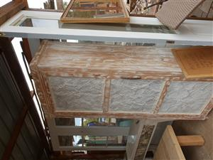 Pressed ceiling panels and furniture