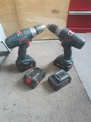 2 bosch cordless drills