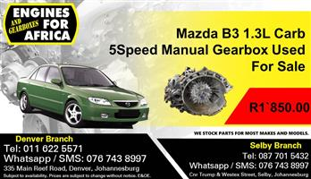 Mazda B3 1.3L Carb 5Speed Manual Gearbox Used For Sale
