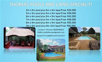 THOMAS POOLS AND LAPAS SPECIAL!!!