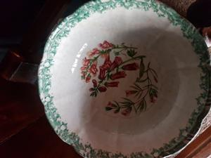 Hand Painted Large Salad or Fruit Bowl