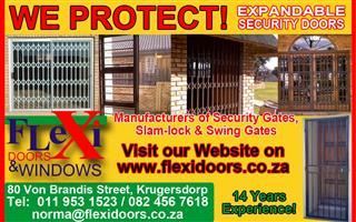 Trelli security gates, swing gates, burglar bars, spanish bars, balustrades, palisades, steel carports
