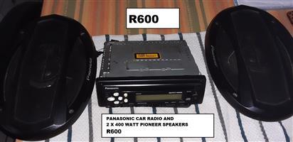 Used, Panasonic  car radio and 2 x Pioneer speakers for sale  Pretoria - Pretoria North