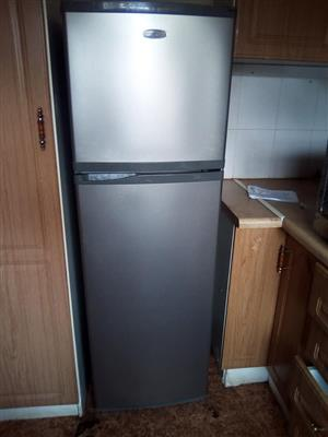 Silver fridge with top freezer for sale