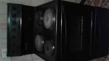 Black 4 plate electric stove