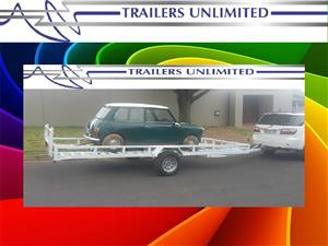 5000 X 2000 X 200 TRAILERS UNLIMITED SINGLE AXLE CAR TRAILERS.