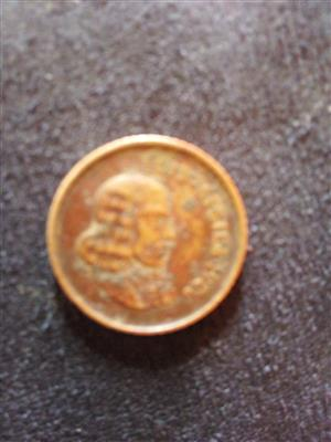 Very fear 1966 South African 1c Coin