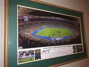 Rugby World Cup 2007 Framed and signed