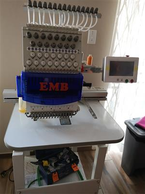 EMB 15 Needle Industrial Embroidery Machine